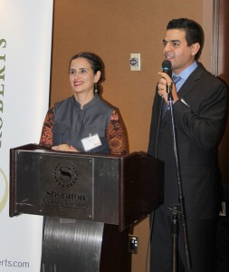 Aird & Berlis LLP partner Atoosa Mahdavian (left) and Gardiner Roberts LLP associates and Behrouz Amouzgar (right) and Babak Nahiddi (not in the photo) founded the professional association
