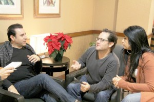Vahik Pirhamzei (left) and director Mark Fusco in the interview with Salam Toronto at their hotel in Toronto. They were in town for the Canadian premier of 'My Uncle Rafael' at the 6th annual Pomegarante Film Festival - Photo by Salam Toronto