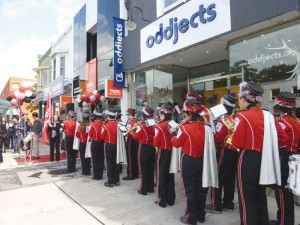 NORTH TORONTO COLLEGIATE MARCHING BAND TAKES TO YONGE STREET to welcome Tridel's 101 Erskine to Yonge & Eglinton. Saturday September 22, 2012