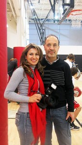 Abbas Azadian and Zahra Azadian, parents of 12-year old Ruzbeh, a big basketball fan.