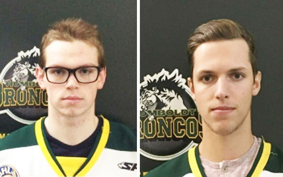 Parker Tobin (left) and Xavier Labelle (right) Saskatchewan Junior Hockey League
