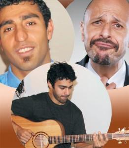 Arash Afrooze (left), Maz Jobrani (right) and Maneli Jamal (bottom)
