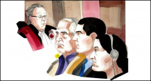 محاکمه محمد شفیع، پسر جوانش حامد شفیع و همسرش طوبا یحیی، به اتهام قتل چهار زن : زینب 19 ساله، سحر 17 ساله، گیتی 13 ساله، (سه دختر نوجوان محمد شفیع و طوبا)، و رعنا امیر محمد، همسر نخست محمد شفیع