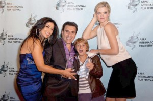 Vahik Pirhamzei along with his wife Anahid Avanesian (left) and renowned Hollywood actress and co-star in 'My Uncle Rafael', Missi Pyle (right) at the 2011 ARPA International Film Festival.