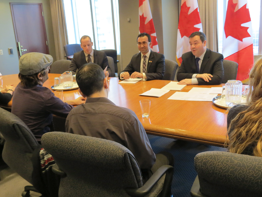 There were roughly ten LGBT Iranian-Canadians that joined Mr. Parsi in the meeting to share their experiences directly with the Immigration Minister. -Photos by Salam Toronto
