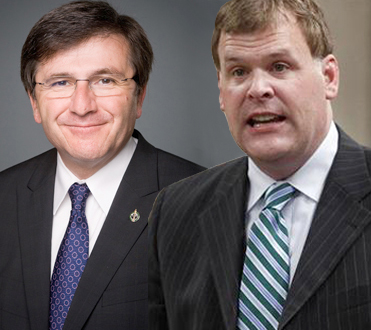 Costas Menegakis, Conservative Richmond Hill MP on the left, and John Baird, Canada's Minister of Foreign Affairs