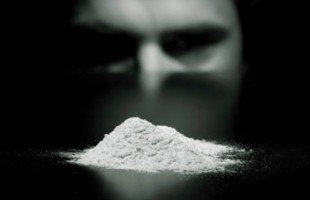 Young man cocaine addicted