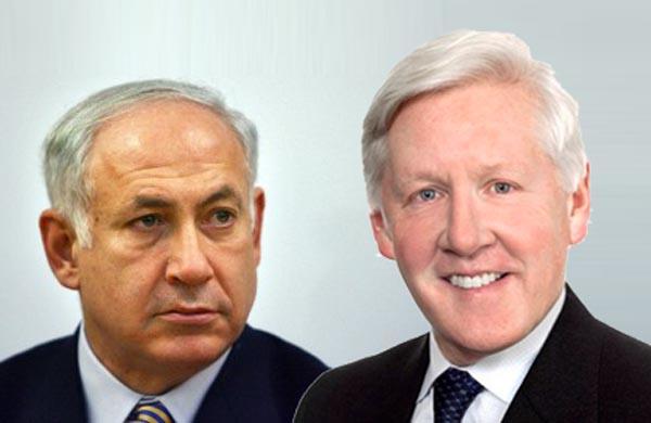 باب ری رهبر موقت حزب لیبرال کانادا و بنجامین نتانیاهو نخست وزیر اسرائیل