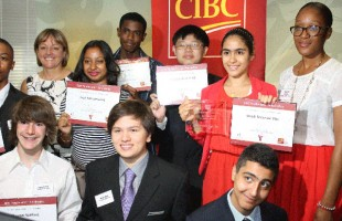 شادی موسوی نیا و دیگر برندگان بورسیه  CIBC Youthvision