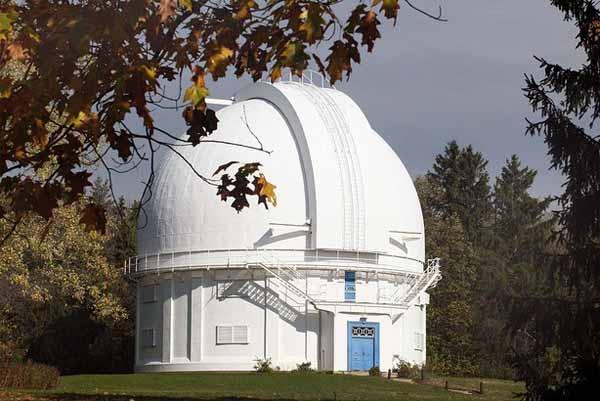 رصدخانه احداث شده در زمین های David Dunlap Observatory