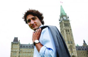 جاستین ترودو نامزد رهبری حزب لیبرال کانادا و پسر پیر الیوت ترودو که در زمان وی منشور حقوق  و آزدیهای کانادا به تصویب رسید