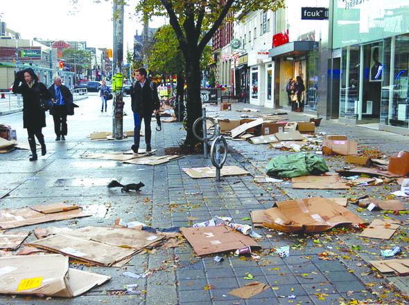 سوپر طوفان سندی، خسارت کمتری در انتاریو به بار آورد