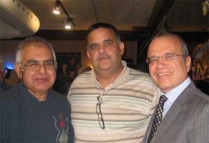 (از سمت راست) حبیب زمانی، مهران راد، دکتر رجبعلیپور