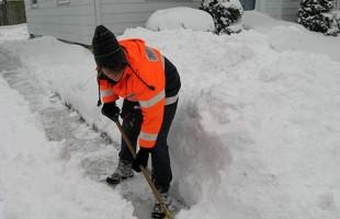 shoveling
