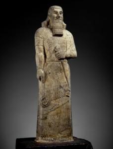 Statue of Ashurnasirpal II Dolomite, magnesite Nimrud, northern Iraq Neo-Assyrian 883 – 859 BCE   The Trustees of the British Museum©