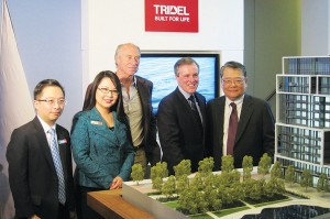 From left to right: Winson Chan (Regional Sales Manager), Winnie Chan (Regional Sales Manager), Leo DelZotto (President), Jim Ritchie (Senior VP of Sales & Marketing) and Sam Fung (VP of Sales)