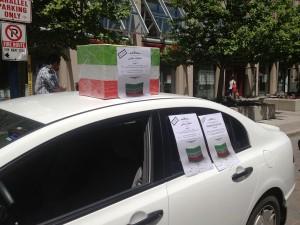 صندوق رای گیری در یکی از محلههای ایرانی نشین