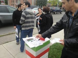 یکی از صندوقهای رای در خیابان