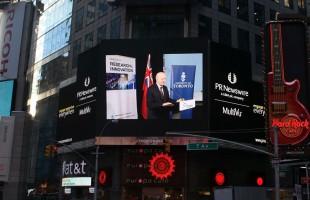 اهمیت تاسیس این اعتبار پژوهشی بحدی است که جریان اعلام آن همراه با سخنرانی دکتر مریدی و نخست وزیر از تابلو اعلانات در میدان مشهور تایمز نیویورک پخش شد.