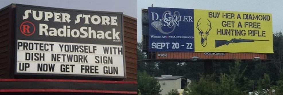 در بسیاری از فروشگاه های آمریکا امکان خرید اسلحه  گرم هم وجود دارد