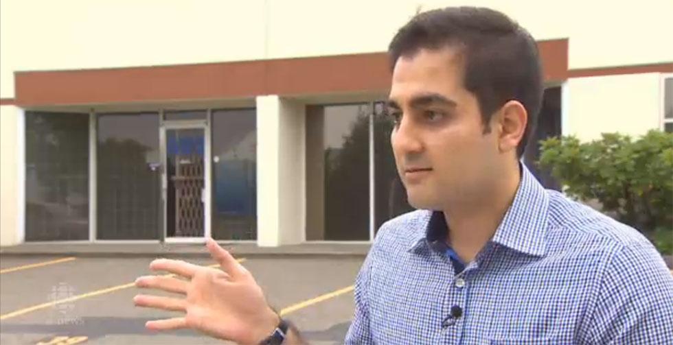 محمد تهرانی از ایران 25 هزار دلار به یک مشاور مهاجرت پرداخت کرد، اما  در اینجا کاری در انتظارش نبود  عکس برگرفته از مصاحبه ویدیویی سی بی سی با محمد تهرانی