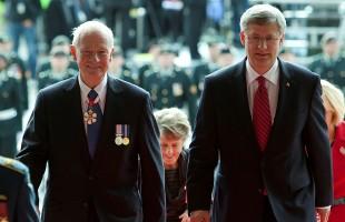 Prime Minister Stephen Harper and Governor General Designate David Johnston enter the Parliament of Canada on October 1st, 2010.