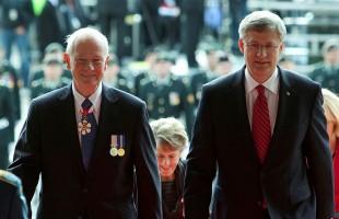 Prime Minister Stephen Harper and Governor General Designate David Johnston enter the Parliament of Canada on October 1st, 2010           Photo Credit: PMO