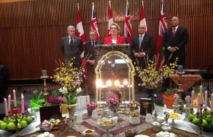چهار شنبه ۲۵ مارچ, به همت دکتر رضا مریدی جشن نوروزی سال نو دولت انتاریو با زیبایی برگزار شد.