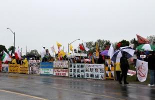 گوشه ای از تظاهرات