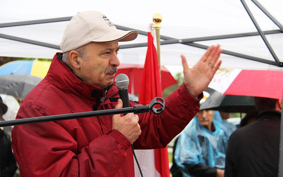 دکتر مریدی نماینده ریچموندهیل در پارلمان انتاریو در  حال سخنرانی
