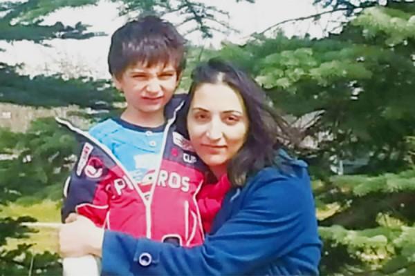 مریم رشیدی و پسر 6 ساله اش