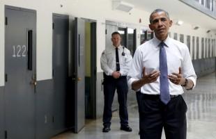 هفته گذشته درب سلول شماره 123 (ابعاد 9 در 10 فوت) که سه  نفر در آن زندانی می شوند، برای بازدید اولین رئیس جمهور آمریکا که به این کار اقدام میکرد، باز شد. این زندان واقع در El Rino  در ایالت اوکلاهما است.