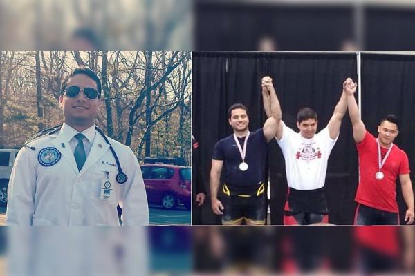 خشایار فرزام:  دانشجوی پزشکی باز به قهرمانی وزنه برداری کانادا می اندیشد. چند هفته پس از اتمام سال اول دانشکده پزشکی، خشایار نفر دوم مسابقات وزنه برداری استانی بود که در تورنتو برگزار شد. عکس راست:  Fernando Serraino (نفر اول از راست) و خشایار فرزام نفرات اول و دوم مسابقات وزنه برداری وزن ۸۳ کیلو گرم در ۴ تا ۵ جون در تورنتو
