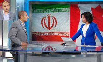 یک روز پس از قطع رابطه کانادا با ایران  تلویزیون  CBC    در هشتم سپتامبر 2012 با  پروفسور نادر هاشمی  کارشناس مسائل ایران و خاورمیانه گفتگو داشت. عکس صحنه ای از این مصاحبه است