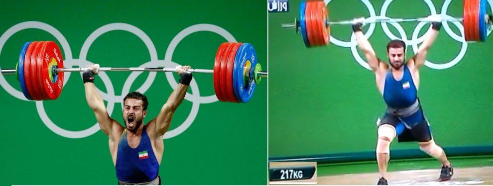 کیانوش رستمی وزنه بردار دسته ۸۵ کیلوگرم ایران با ثبت رکورد ۳۹۶ کیلوگرم عنوان قهرمانی المپیک را به دست آورد.
