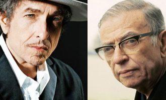 ژان پل سارتر-باب دیلن