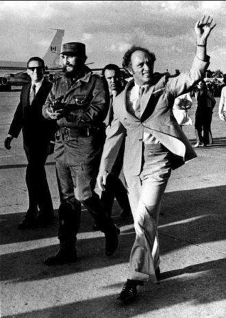 ملاقات پییر ترورو با فیدل کاسترو در سال1976