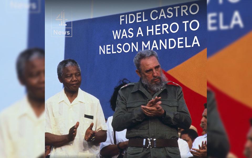 ماندلا بلافاصله بعد از آزادی اش به کوبا سفرکرده بود تا از فیدل کاسترو  و مردمش برای نقش منحصر به فرد آنها در حمایت از مبارزات  مردم آفریقای جنوبی برای استقلال تشکر کند.