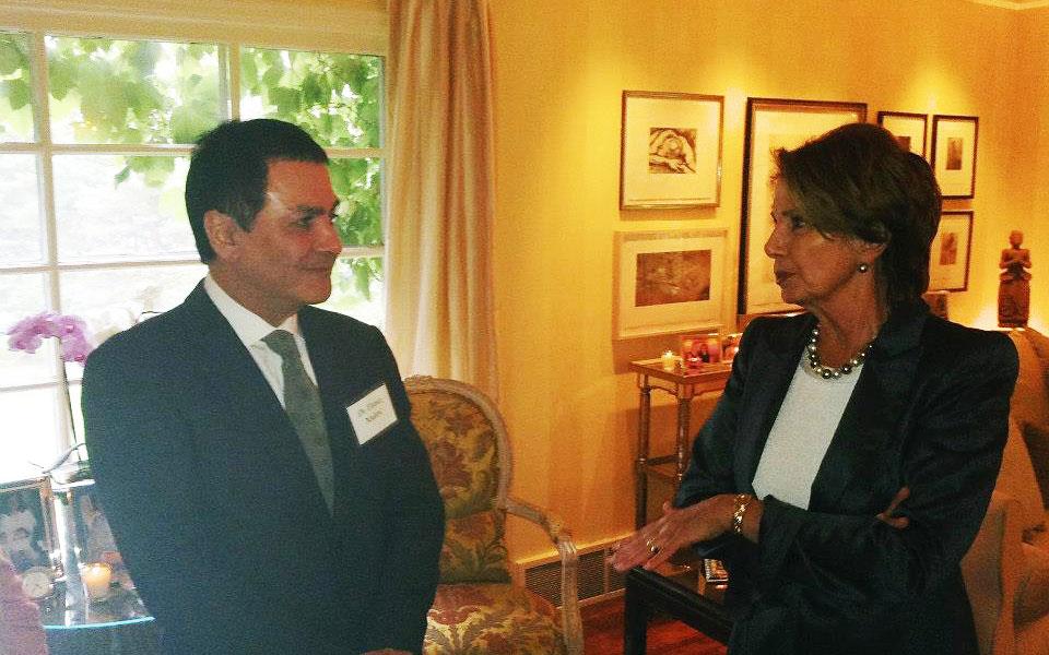 فیروز نادری در دیدار با نانسی پلوسی Nancy Pelosi رهبر اقلیت (دمکرات) کنگره آمریکا