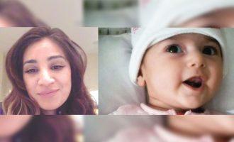 نوزاد 4 ماهه  ایرانی، فاطمه رشاد (راست) و خانم  گل شیخ که او را می خواهد به آمریکا بیاورد
