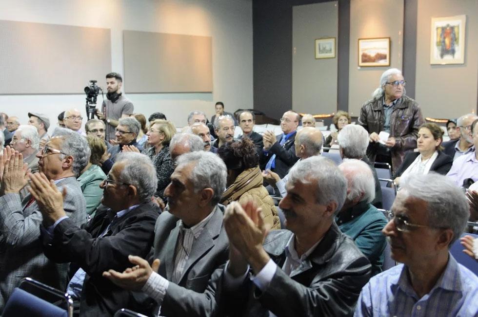 جمعی از حاضران در سخنرانی پروفسور کنعانی در بنیاد پریا  ـ یکشنبه 14 می 2017
