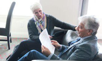 پروفسور ناصر کنعانی در مصاحبه با خانم مری وین از رادیو سی بی سی  ـ  چهارشنبه 10 می 2017 ـ عکس از سلام تورنتو