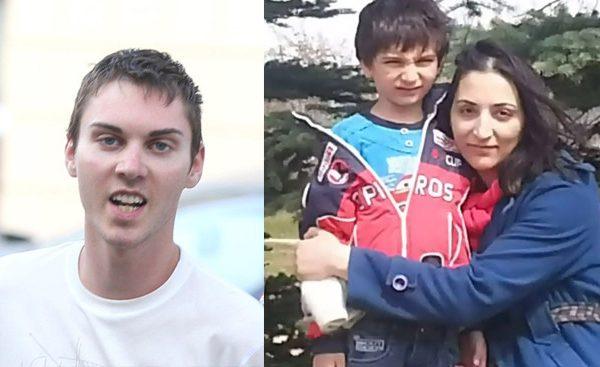 مریم رشیدی  و پسرش کوروش     سمت چپ: جاشوا کودی متهم به زیر گرفتن و کشتن  مریم رشیدی در  پمپ بنزین کلگری