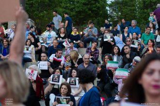 Candlelight Vigil for Victims of Tehran Attacks at Mel Lastman Square, Toronto