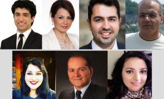از بالا راست: مهران فرازمند، بیژن احمدی، سوده قاسمی، پویان طبسی نژاد،  درنا مژدمی، مجتبی ادیب راد،  مروارید زارع زاده