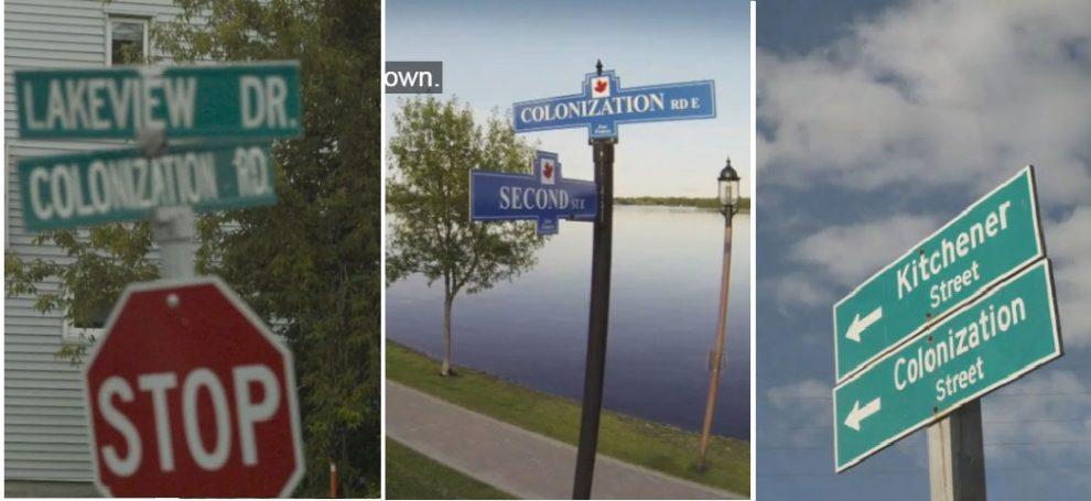 سه تصویر از فیلم Colonization Road در اشاره به جاده هایی با همین نام، که این هفته از شبکه سراسری سی بی سی پخش شد.