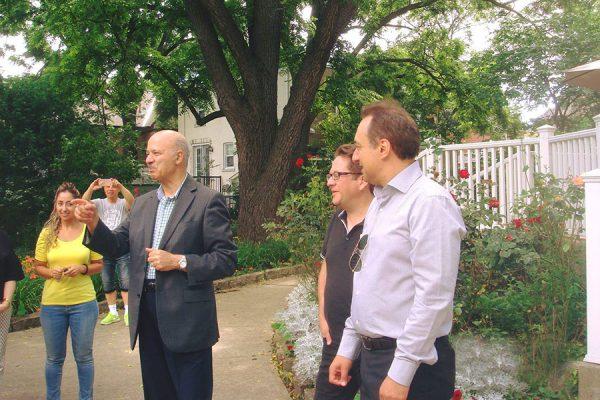 از راست: ریجارد راپ،  لوئی اسپادالیری، دکتر رضا مریدی