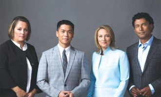 CBC has announced a quartet of new hosts for The National, from left to right, Rosemary Barton, Andrew Chang, Adrienne Arsenault and Ian Hanomansing- CBC