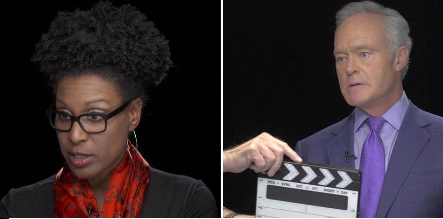 اسکات پلی Scott Pelley مجری برنامه «60 دقیقه»  و نیکل یانگ Nicole Young تهیه کننده این برنامه.