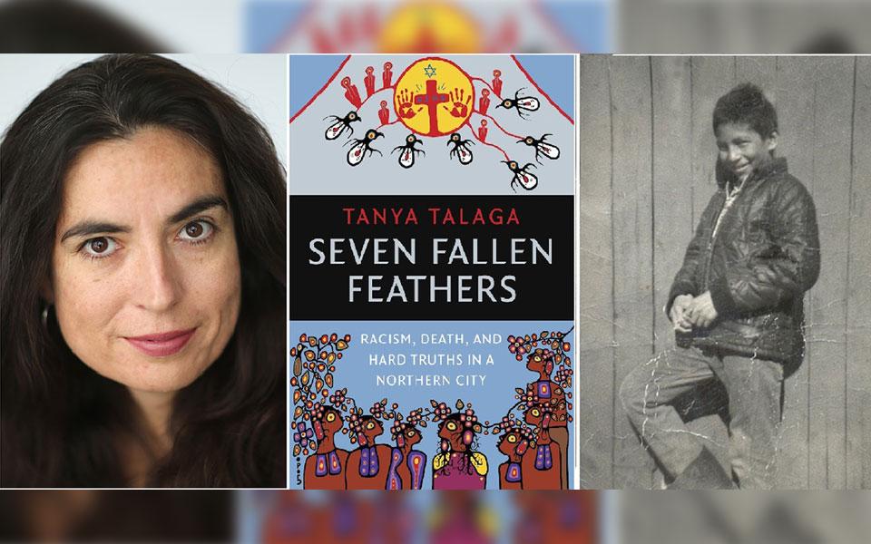 تانیا تلاگا نویسنده کتاب «7 پر به زمین افتاده»  (چپ) و چنی ونجاک  پسر 12 ساله بومی که در مدرسه شبانه روزی زندگی می کرد  در  سال 1966 در راه  فرار به خانه در اثر سرما جان خود را از دست داد.